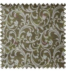Green Grey Beautiful Motif Design Poly Main Curtain Designs